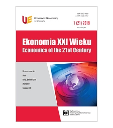 Spis treści [Ekonomia XXI Wieku = Economics of the 21st Century, 2019, Nr 1 (21)]