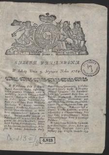 Gazeta Warszawska. R.1784 Nr 1