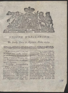 Gazeta Warszawska. R.1784 nr 2