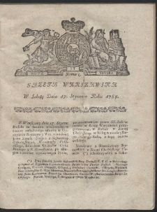 Gazeta Warszawska. R.1784 Nr 5