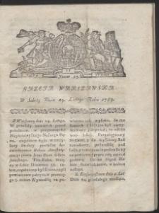 Gazeta Warszawska. R.1784 Nr 13
