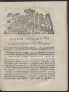 Gazeta Warszawska. R.1784 Nr 15