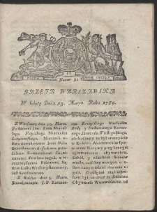 Gazeta Warszawska. R.1784 Nr 21