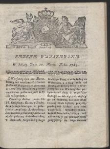 Gazeta Warszawska. R.1784 Nr 23