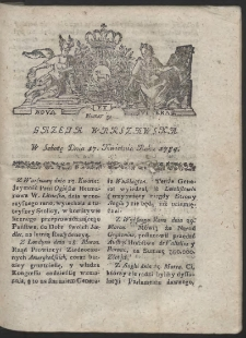 Gazeta Warszawska. R.1784 Nr 31