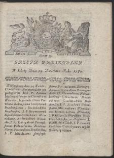 Gazeta Warszawska. R.1784 Nr 33