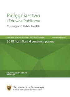 Pielęgniarstwo i Zdrowie Publiczne = Nursing and Public Health, 2018, Vol. 8, nr 4