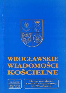 Wrocławskie Wiadomości Kościelne. R. 49 (1996), nr 2