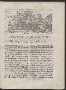 Gazeta Warszawska. R.1784 Nr 54