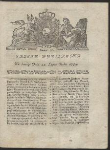 Gazeta Warszawska. R.1784 Nr 58