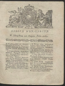 Gazeta Warszawska. R.1784 Nr 67