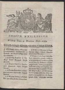 Gazeta Warszawska. R.1784 Nr 71