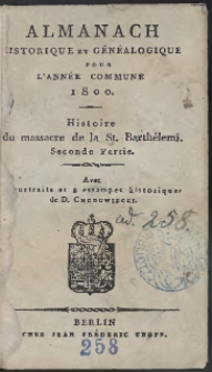 Almanach Historique Et Généalogique Pour L'Année […] 1800 […]