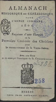 Almanach Historique Et Généalogique Pour L'Année […] 1801 […]
