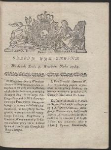 Gazeta Warszawska. R.1784 Nr 72