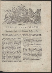 Gazeta Warszawska. R.1784 Nr 74