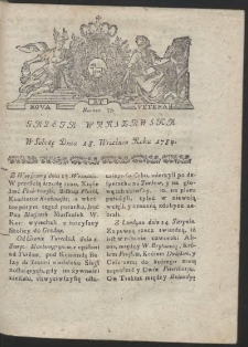 Gazeta Warszawska. R.1784 Nr 75