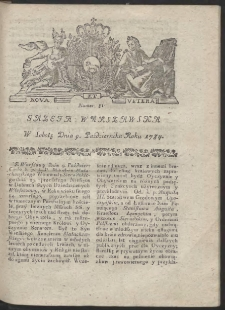 Gazeta Warszawska. R.1784 Nr 81
