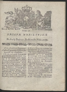 Gazeta Warszawska. R.1784 Nr 86