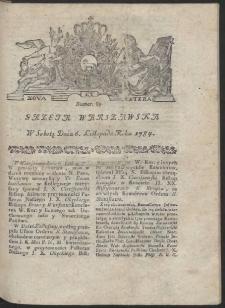Gazeta Warszawska. R.1784 Nr 89