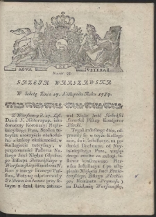 Gazeta Warszawska. R.1784 Nr 95