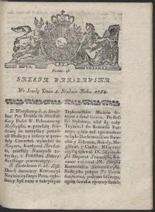 Gazeta Warszawska. R.1784 Nr 96