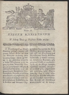 Gazeta Warszawska. R.1784 Nr 97