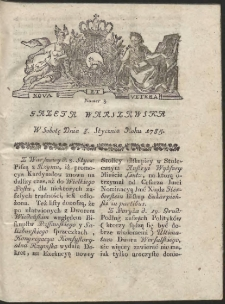 Gazeta Warszawska. R.1785 Nr 3