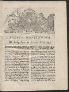 Gazeta Warszawska. R.1785 Nr 8