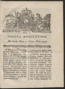 Gazeta Warszawska. R.1785 Nr 10