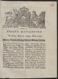 Gazeta Warszawska. R.1785 Nr 13