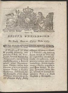 Gazeta Warszawska. R.1785 Nr 14