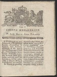 Gazeta Warszawska. R.1785 Nr 16