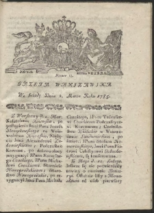 Gazeta Warszawska. R.1785 Nr 18