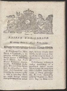 Gazeta Warszawska. R.1785 Nr 19