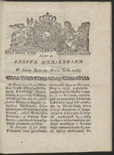 Gazeta Warszawska. R.1785 Nr 23
