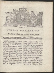 Gazeta Warszawska. R.1785 Nr 25