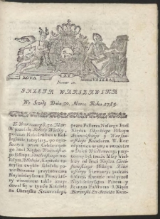 Gazeta Warszawska. R.1785 Nr 26