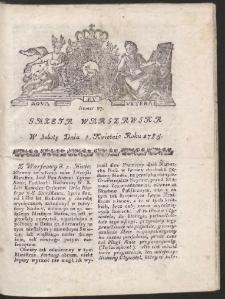 Gazeta Warszawska. R.1785 Nr 27