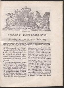 Gazeta Warszawska. R.1785 Nr 31