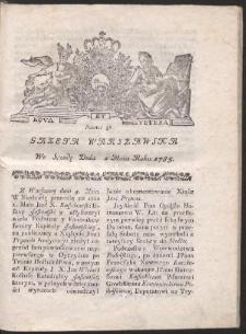 Gazeta Warszawska. R.1785 Nr 36