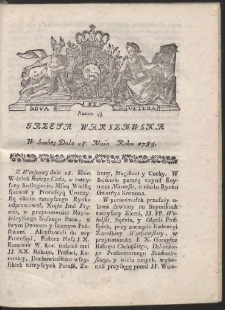 Gazeta Warszawska. R.1785 Nr 43