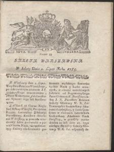 Gazeta Warszawska. R.1785 Nr 53