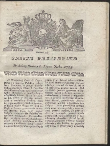 Gazeta Warszawska. R.1785 Nr 57