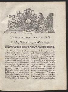 Gazeta Warszawska. R.1785 Nr 63