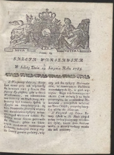 Gazeta Warszawska. R.1785 Nr 65