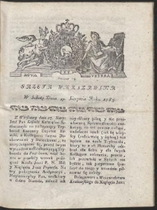 Gazeta Warszawska. R.1785 Nr 69