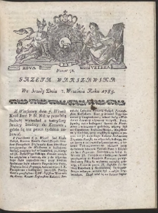 Gazeta Warszawska. R.1785 Nr 72