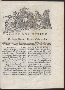 Gazeta Warszawska. R.1785 Nr 78