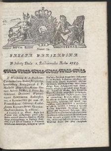 Gazeta Warszawska. R.1785 Nr 79